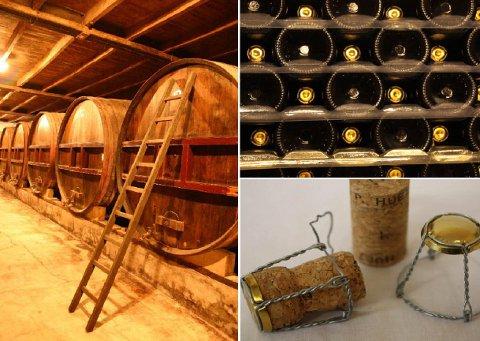 La fermentation des jus de pommes à cidre amères, acidulées et douces permet d'obtenir le cidre pierre huet
